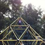 First trip to German playground.  Bergedorf, July 2, 2011.
